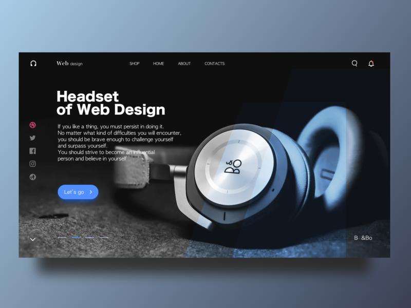 Headest of web Design ui  ux design ui web  design the headset