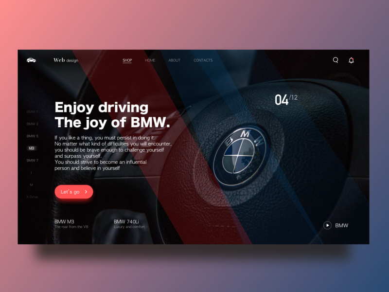 BMW - Enjoy Driving practice vector driving webdeisgn web ad web ux bmw typography