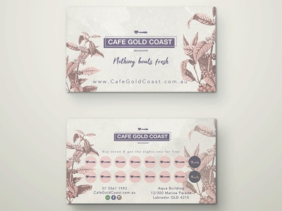 Loyalty cards for Cafe on the Gold Coast, Australia