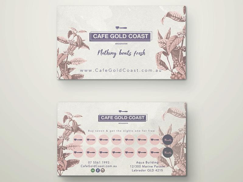 Loyalty cards for Cafe on the Gold Coast, Australia cafe logo cafe branding graphic  design logo design flat logo loyalty program loyalty loyalty card branding