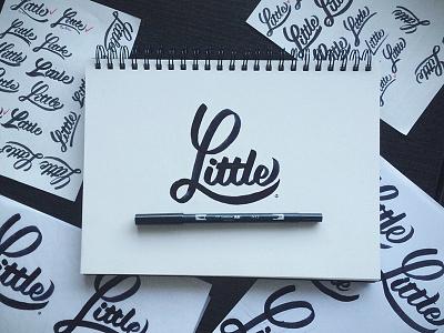 Little  logo brush brushwork lettering drawn hand type