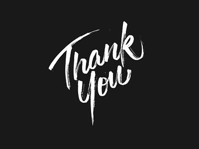 Thank You! thankyou hand-lettering brushpen typography ginozko