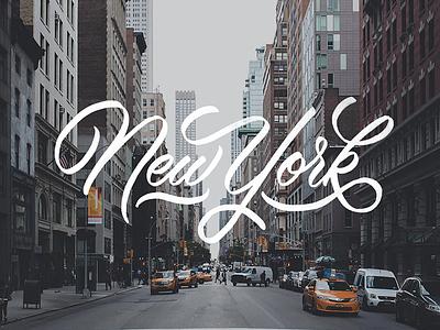 New York newyork lettering