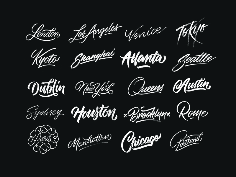 Cities | A Raw Brush Lettering Series newyork cities places ginozko typography lettering