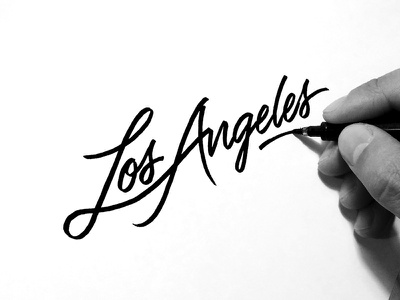 Los Angeles  losangeles cities places ginozko typography lettering