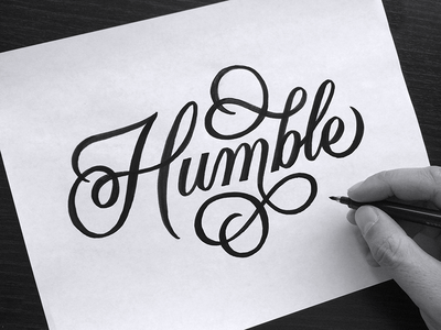 Humble  typography ginozko lettering humble handlettering