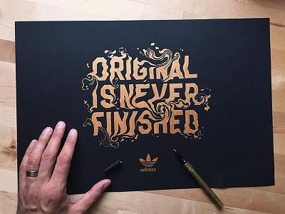 Original is Never Finished illustration art typography adidas