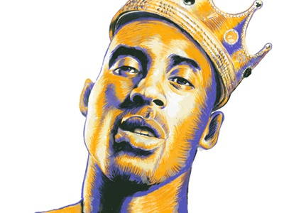 KingKobe nba kobebryant 24 ginozko lakers portrait biggiesmalls pencil handdrawn
