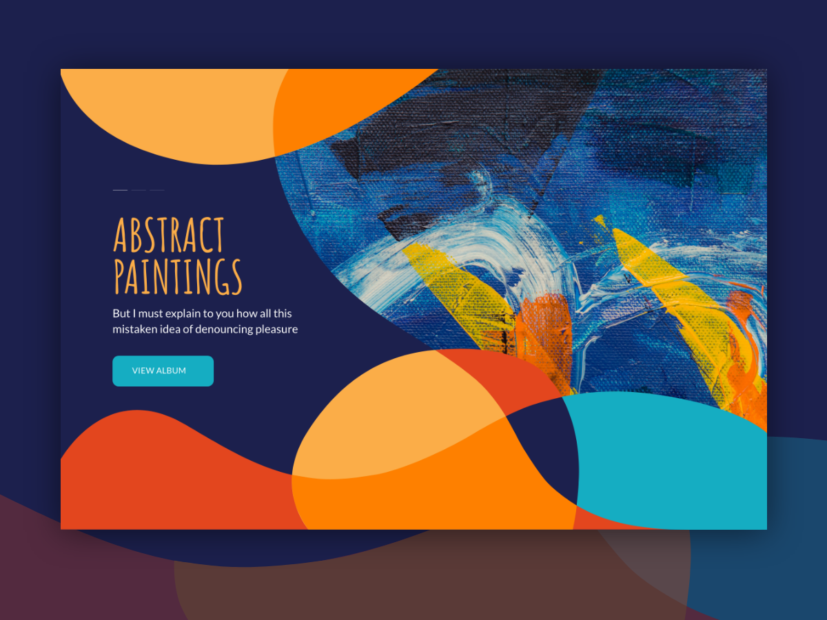 Abstract Theme flat vector typography illustration website web design
