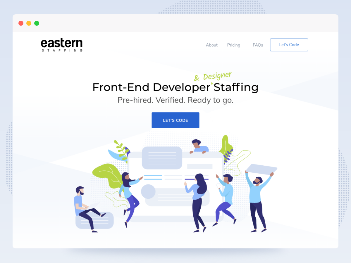 Eastern Staffing illustrator minimal branding logo illustration flat design ui vector typography website web