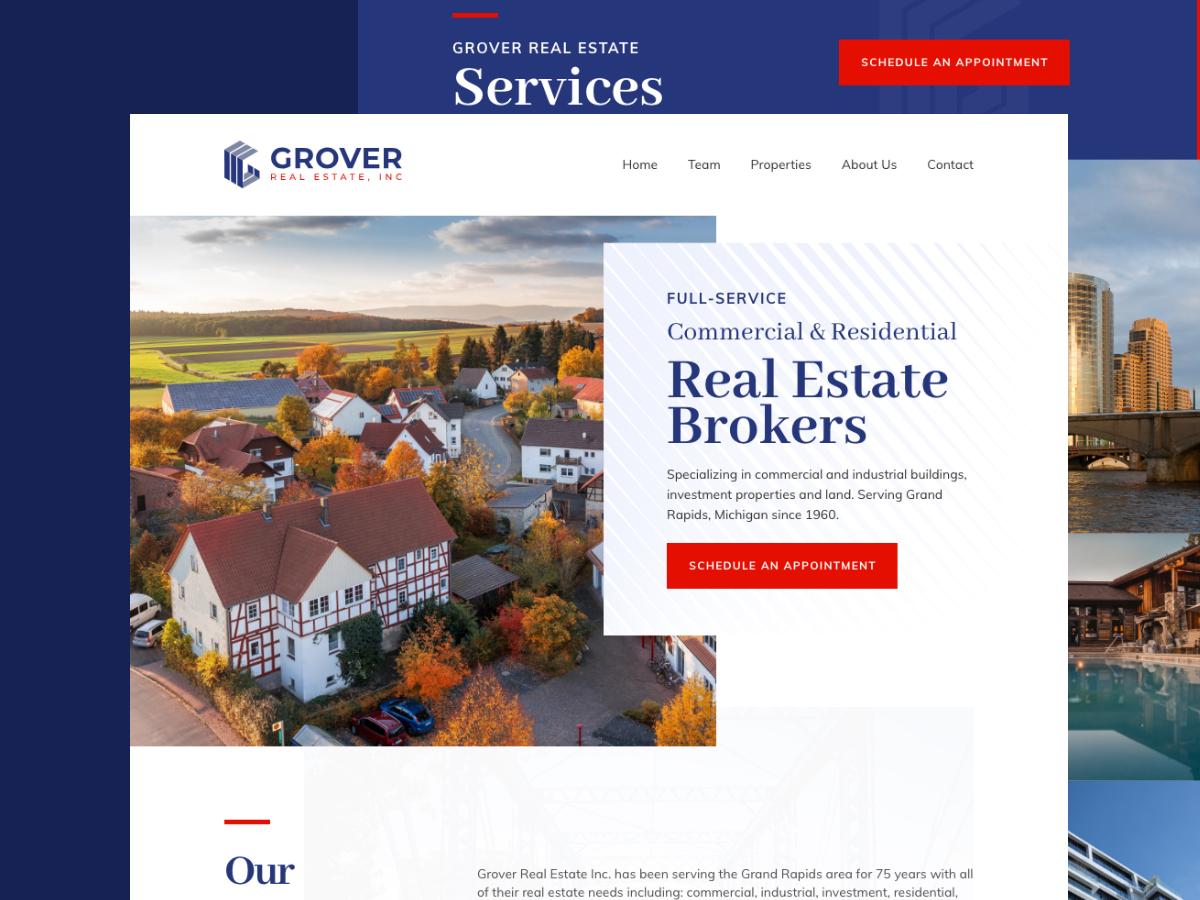 Grover Real Estate ui design typography website web