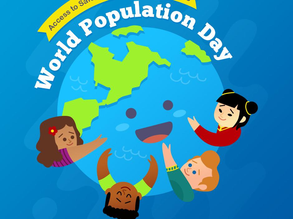 World Population Day design illustration vector flat