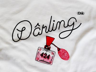 Dârling lettering for t-shirt