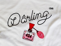 Dârling lettering for t-shirt