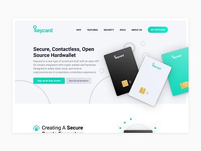 Keycard Landingpage simple clean minimal animation landingpage