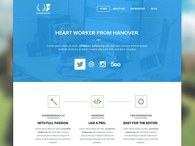 Portfolio Relaunch portfolio about personal flat simple
