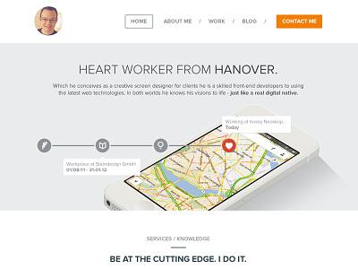 Portfolio - Homepage flat portfolio iphone timeline simple website personal about work