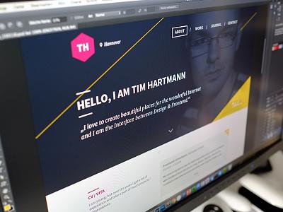 Portfolio 2015 portfolio about personal hannover timhartmann website homepage home flat