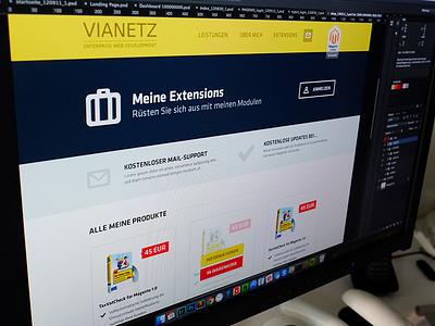 Vianetz screendesign photoshop view design website shop ecommerce portfolio