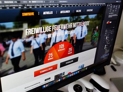 feuerwehr-mittelrode.de firefighter website photoshop screendesign design homepage landingpage