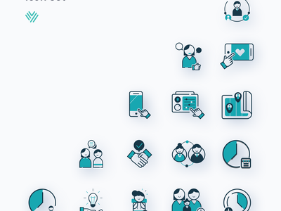 yors icons landing page map business service flat website marketing website icons icon landingpage