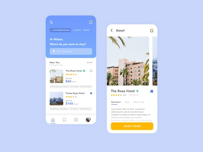 Booking Hotel | UI Mobile Design