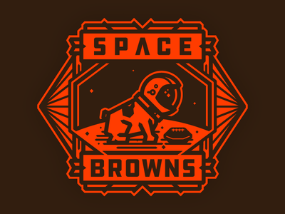 S P A C E B R O W N S champions of the galaxy astronaut dog spacebrowns space browns