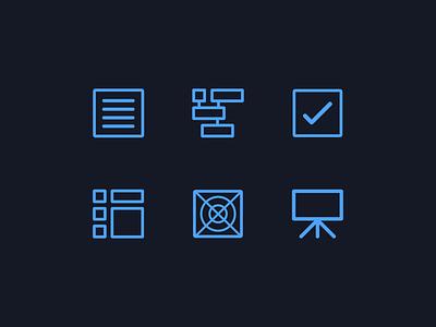 Workflow Icons stephen leadbetter presentation visual communication graphic  design symbols workflow uidesign icons set icons