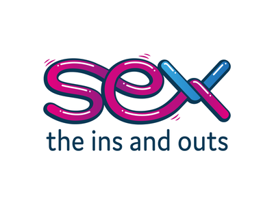 Sex: The ins and outs sex education sex typography logo branding graphic design