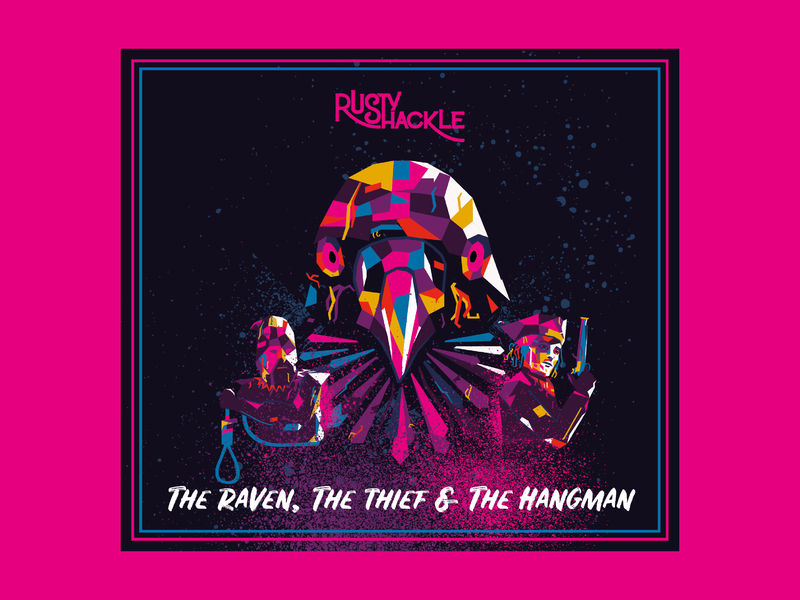 Rusty Shackle - The Raven The Thief And The Hangman folk folk rock folk music hangman thief raven rusty shackle album artwork album art album cover