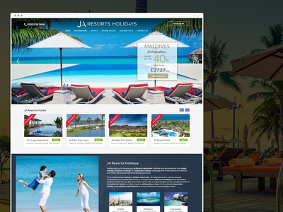 Website design for resort business