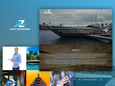 Single page website for a Yacht refinishing company.