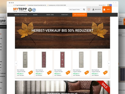 An E-commerce website for a German business