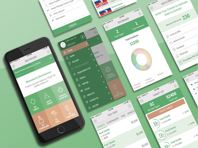 An app to manage your charities and charity targets android app mobile app development mobile app design mobile app