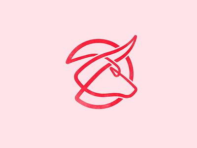 Monoline Bull taurus bull forsale monoline line ux ui vector logo label illustration identity design branding brand