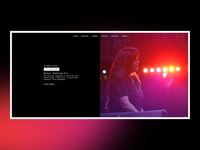 UI/UX for rock group