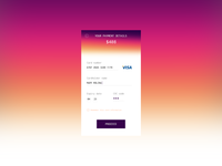 DailyUI 002 – Credit Card Checkout
