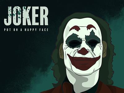 Joker sad tragedy laugh smile arthur dc comics batman thejoker dc clown illustrator photoshop digital painting illustration putonahappyface joker