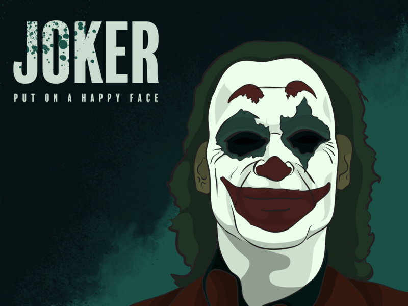 Joker sad tragedy laugh smile arthur dc comics batman thejoker dc clown illustrator photoshop digital painting illustration putonahappyface joker