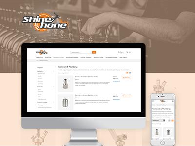 Shinehone illustrator branding responsive mobile design web