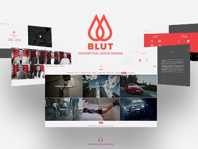 Blut website mobile responsive ux ui web illustrator design logo branding