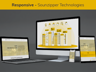Soundzipper website branding app ux ui mobile web illustrator responsive design