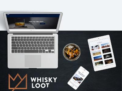 Whiskey  Loot app website ux ui mobile branding web responsive illustrator design