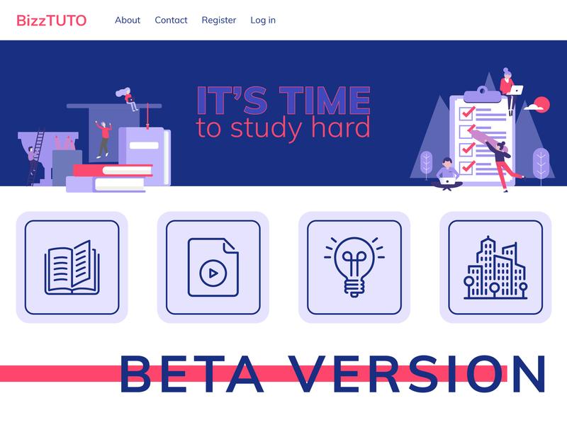 BizzTUTO design illustration vector website ux ui web illustrator