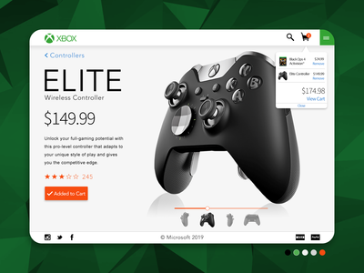 Xbox Elite Wireless Controller Product Page Concept