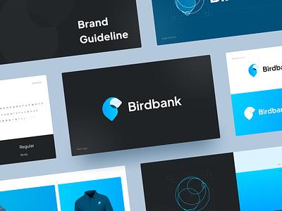Birdbank - Brand Guidelines digital bank golden ratio grid logo b letter b b logo structure structure identity logo design banking bird bank blue brandbook guideline brand branding logo concept logo