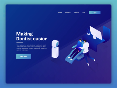 AI For Future Dentists illustration motiongraphics motiongraphic futuristic isometric design isometric animation animation 2d future robot artificial intelligence artificialintelligence dentists dentist isometric animation