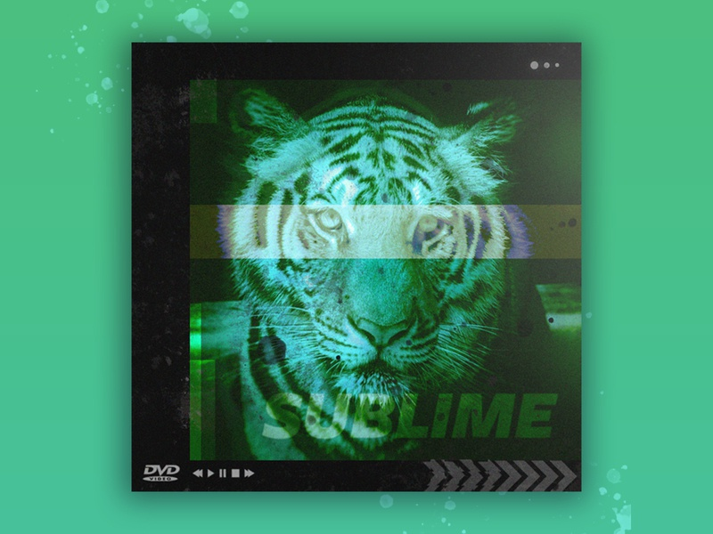 Tigereyes: Sublime scifi vaporwave retro chicago tiger posterdesign glitchart visualidentity coverart electronicmusic glitch aiga creative brandidentity typography illustration graphicdesign branding design