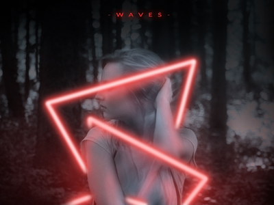 Echoes : Photo Series forest neonlights photoshop waves digital art creative design graphicdesign abstract industrial scifi cover art photo manipulation photography vaporwave