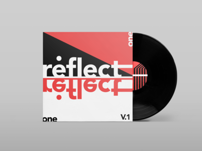 Reflect: Album Cover abstract visualidentity brandidentity branding brand marketing advertising adobe modern aiga creative illustration graphicdesign bauhaus design sansserif monotype lettering typeface typography